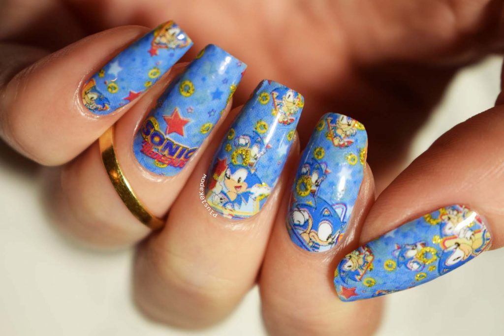 Espionage Cosmetics Sonic the Hedgehog gamer nerdy nail wraps
