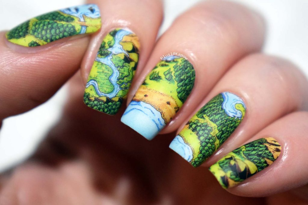 Espionage Cosmetics Cartographer nerdy nail wraps