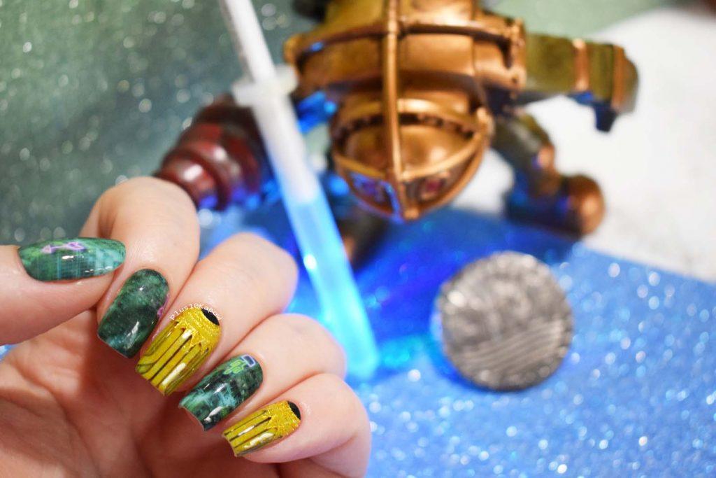 Espionage Cosmetics Twisted Utopia Bioshock nerdy gamer nails