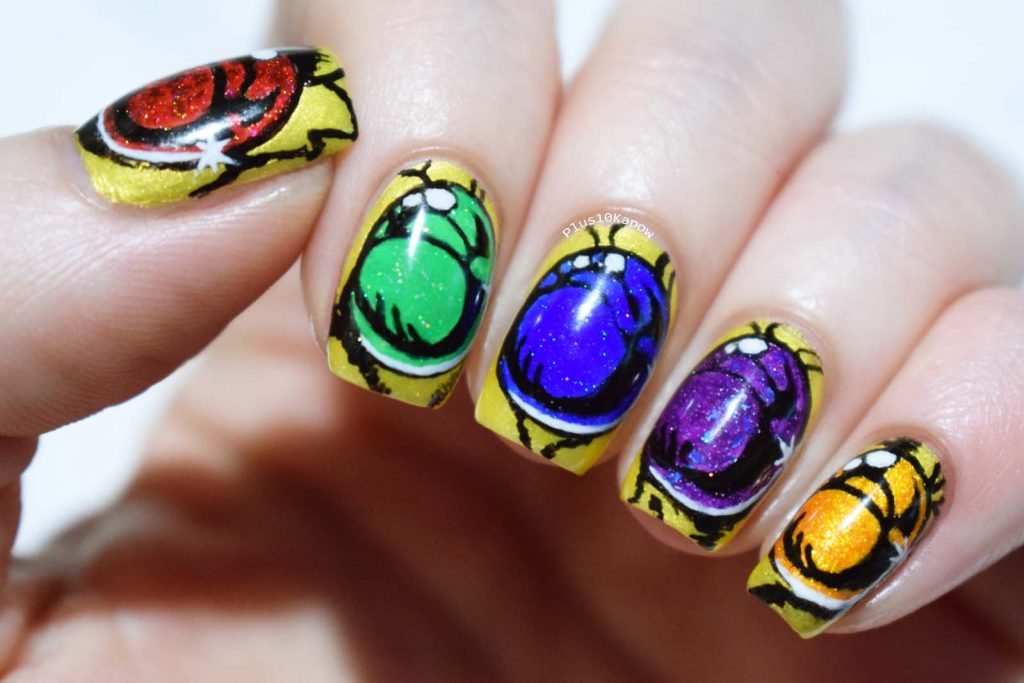 Marvel Infinity Gauntlet nerdy nails Thanos comic book