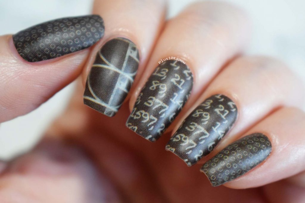 Espionage Cosmetics Fibonacci maths nerdy nails