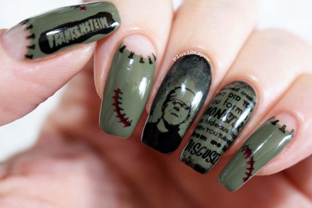Frankenstein nerdy book nails