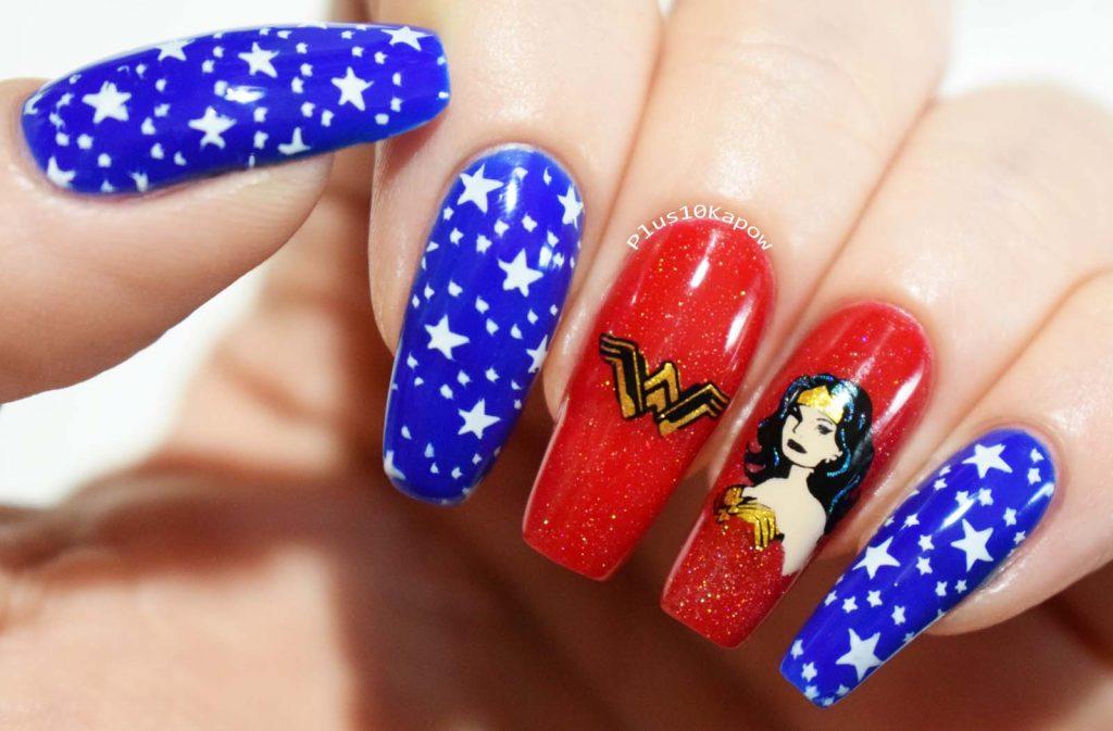 Wonder Woman Nerdy Nails