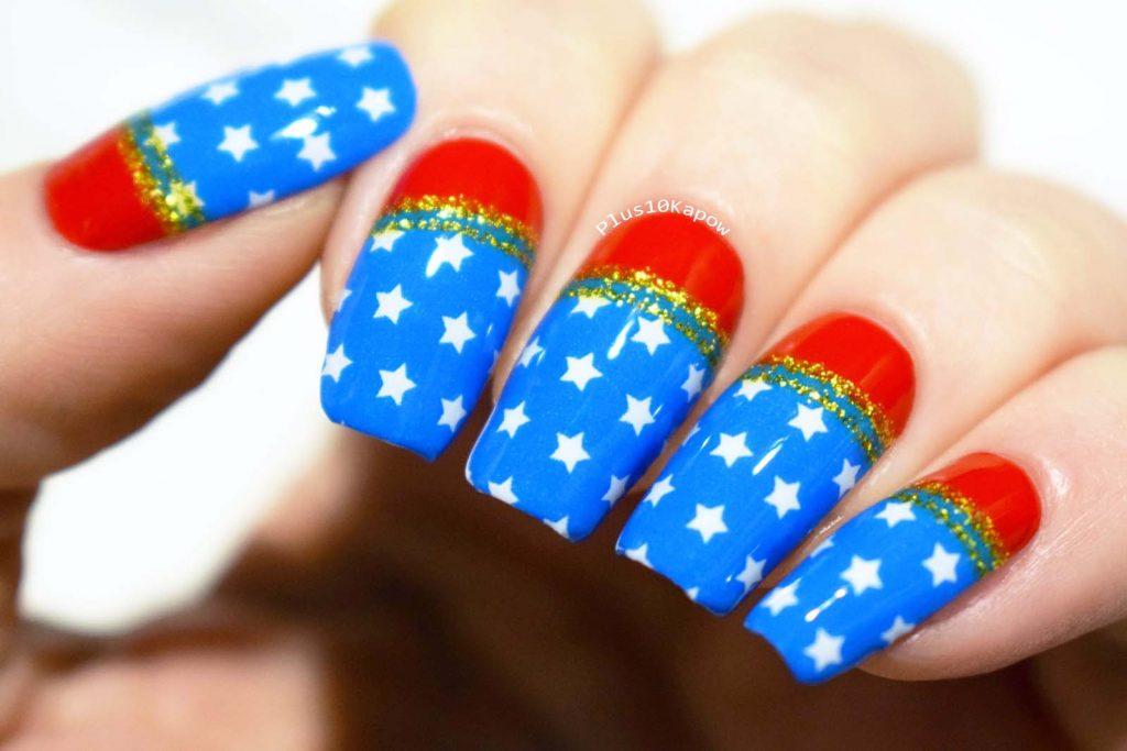 Espionage Cosmetics Amazonian Princess Wonder Woman nerdy nail wraps