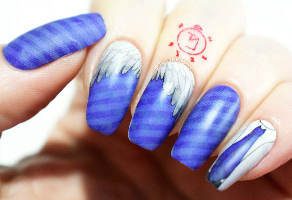 Espionage Cosmetics Seraph Castiel Supernatural nerdy nails