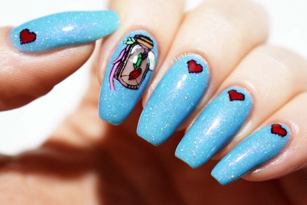Legend of Zelda nerdy nails Maniology Mani X Me and MO16 stamping plate