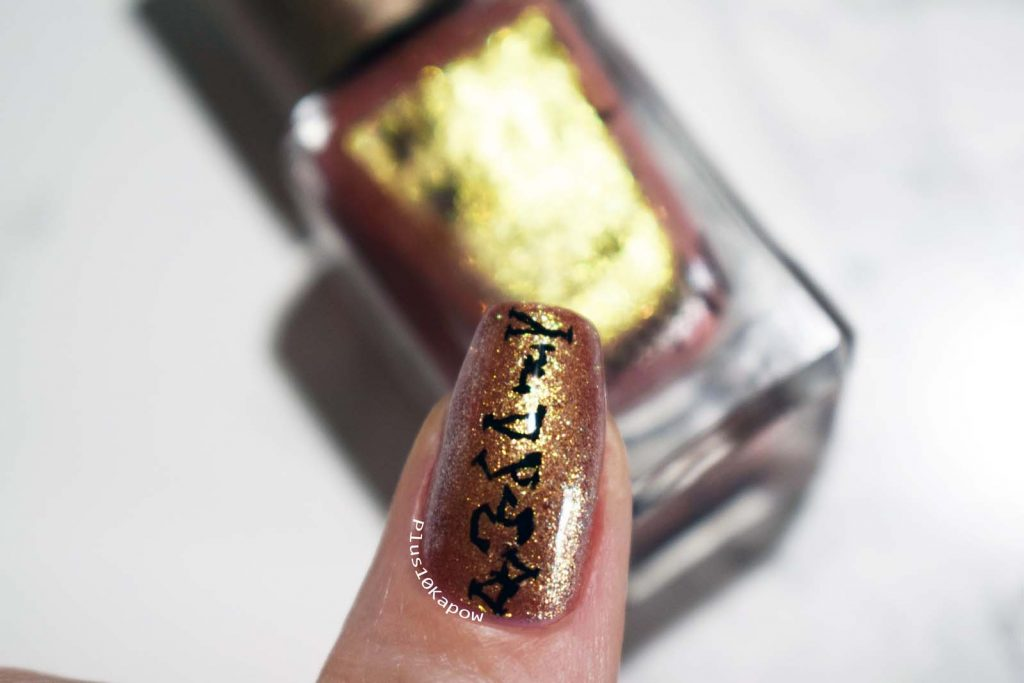Stargate SG-1 nerdy nails Barry M Molten Metals