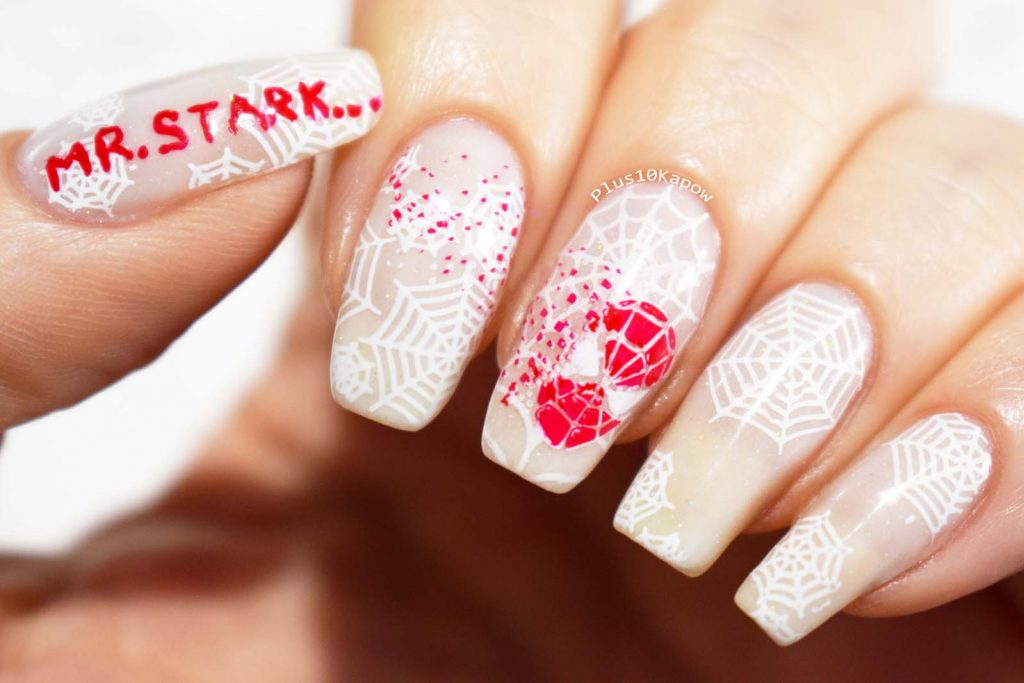 Mr Stark, I don't feel so good! Spider-Man nerdy nails, Marvel Avengers Infinity War