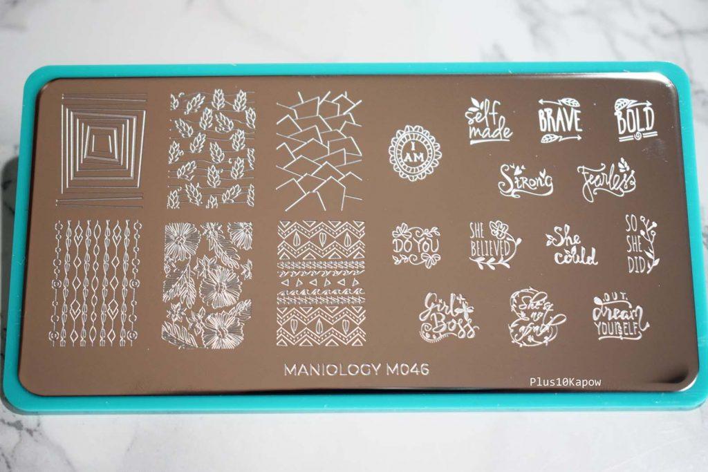 Maniology Women's Empowerment Stamping Plates M046