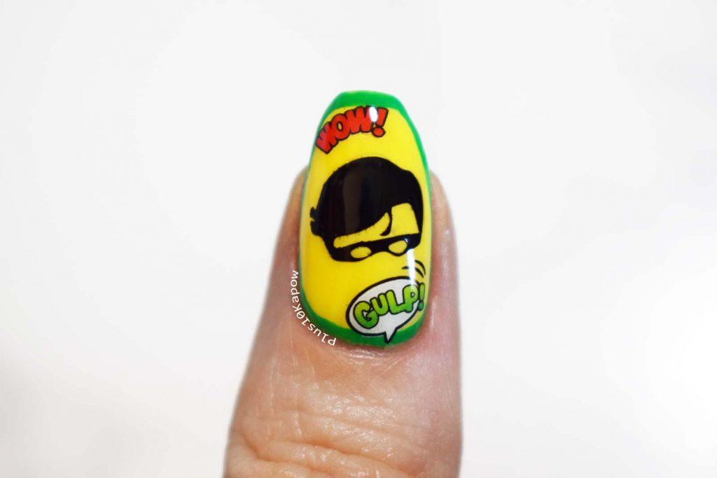 DC Comics Robin Batman Comic Book Nerd Nails