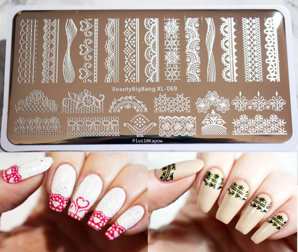 Beauty Big Bang XL-069 stamping Barry M Moyou Black Knight