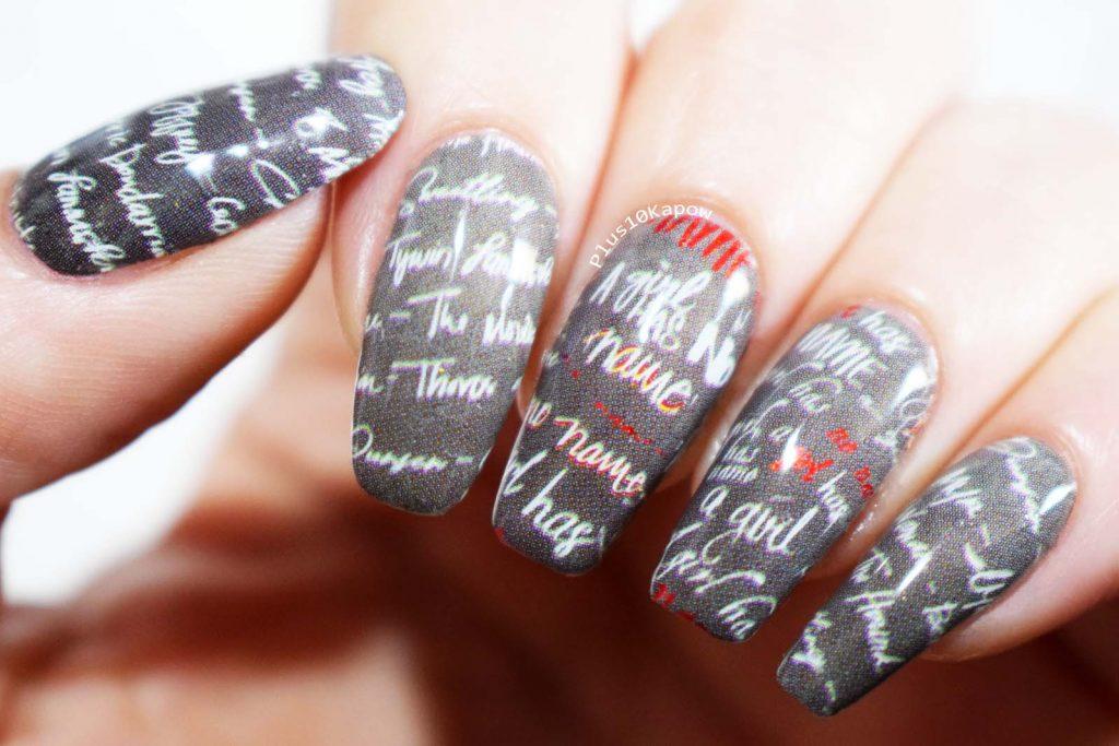 Espionage Cosmetics Arya Game of Thrones A Girl Has No Name Nerdy Nail wraps