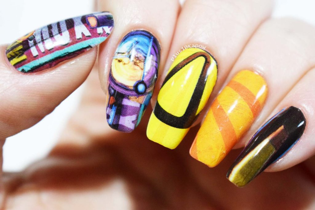 Borderlands 3 Espionage Cosmetics Nail Wraps Nerdy Gamer Nails