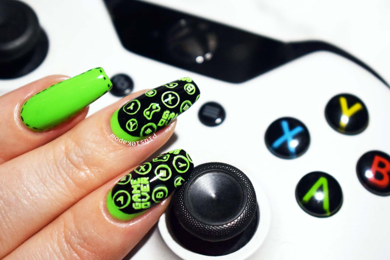 Xbox nail art Plus10Kapow