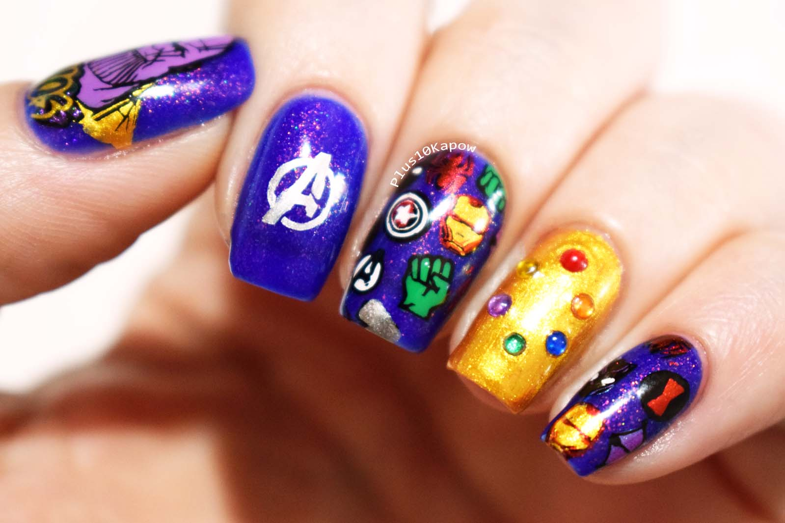 AVengers Endgame Infinity Gauntlet nails Plus10Kapow