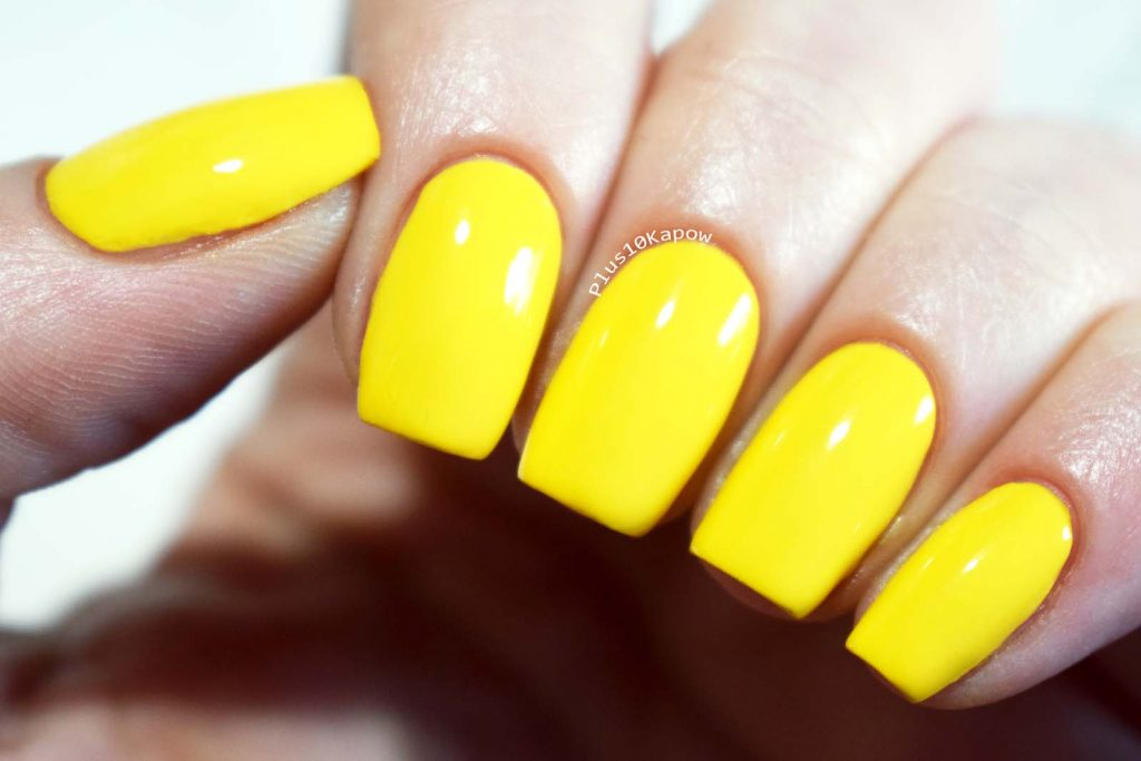 Barry M SS19 Gelly Nail Paints Swatches Banana Split