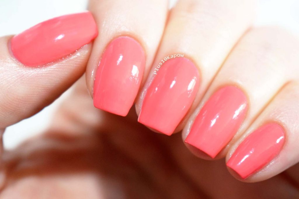 Barry M SS19 Gelly Nail Paints Swatches Pink Grapefruit