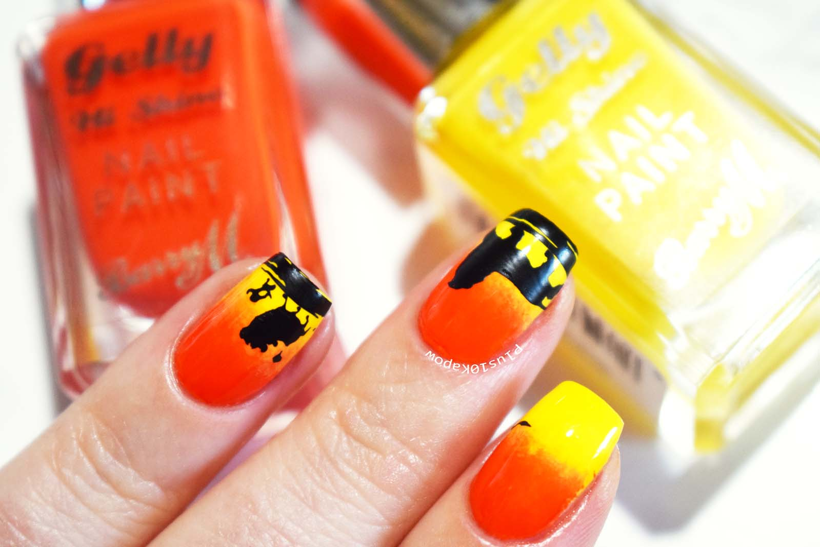The Lion King nail art Plus10Kapow