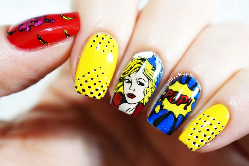 Born Pretty Store Artist L001 Pop Art Bright Nail Art