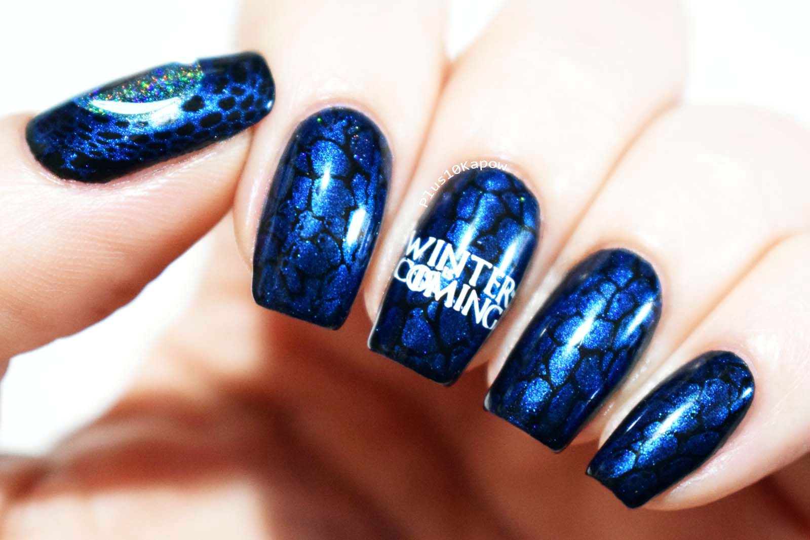 Game of Thrones Ice Dragon nails Plus10Kapow