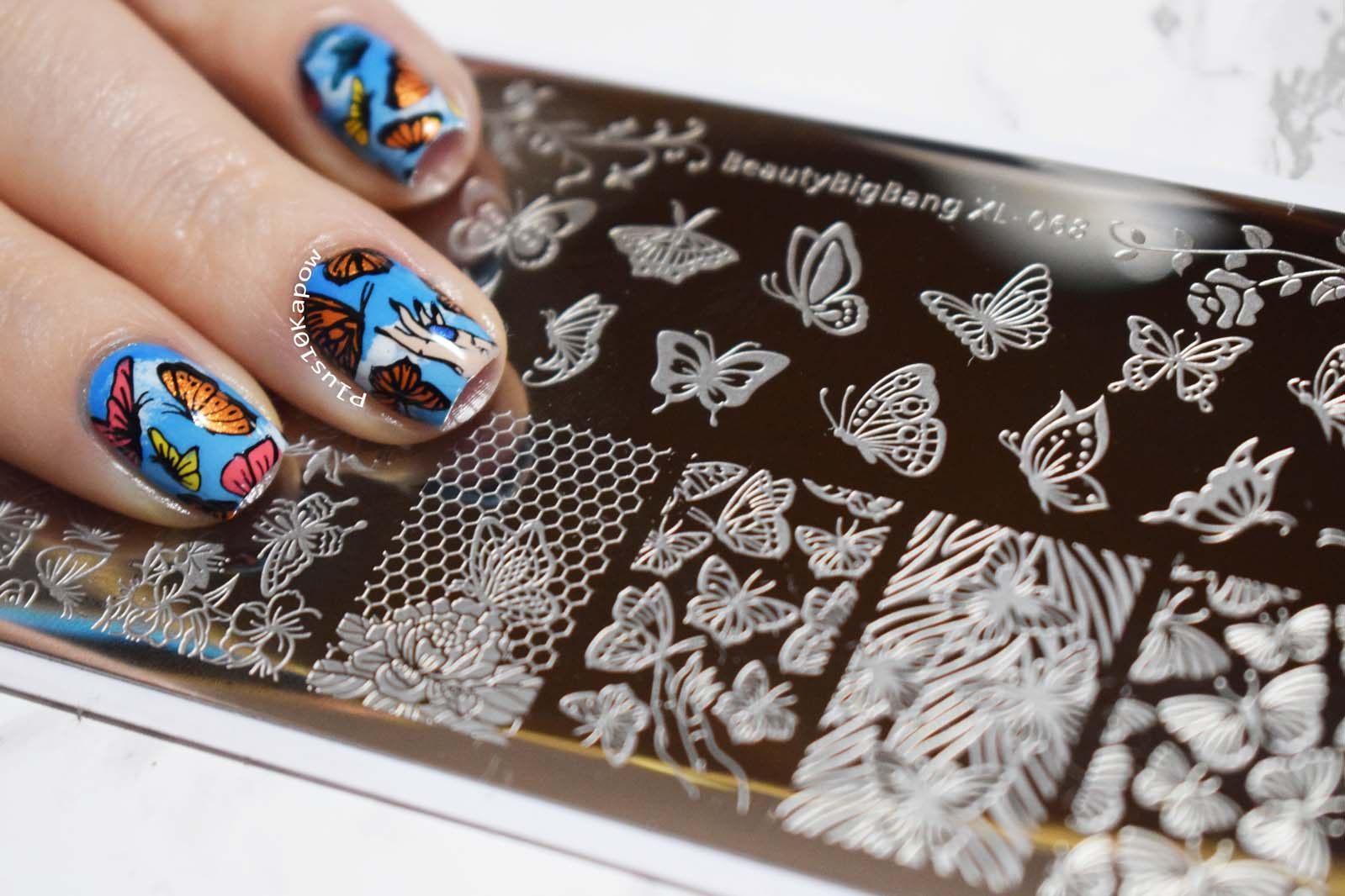 Butterfly nails Beauty Big Bang Xl-068 Plus10Kapow