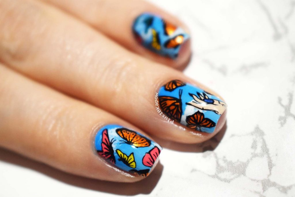 Beauty Big Bang XL-068 BBBXL-068 stamping plate Butterfly nails Barry M Gradient