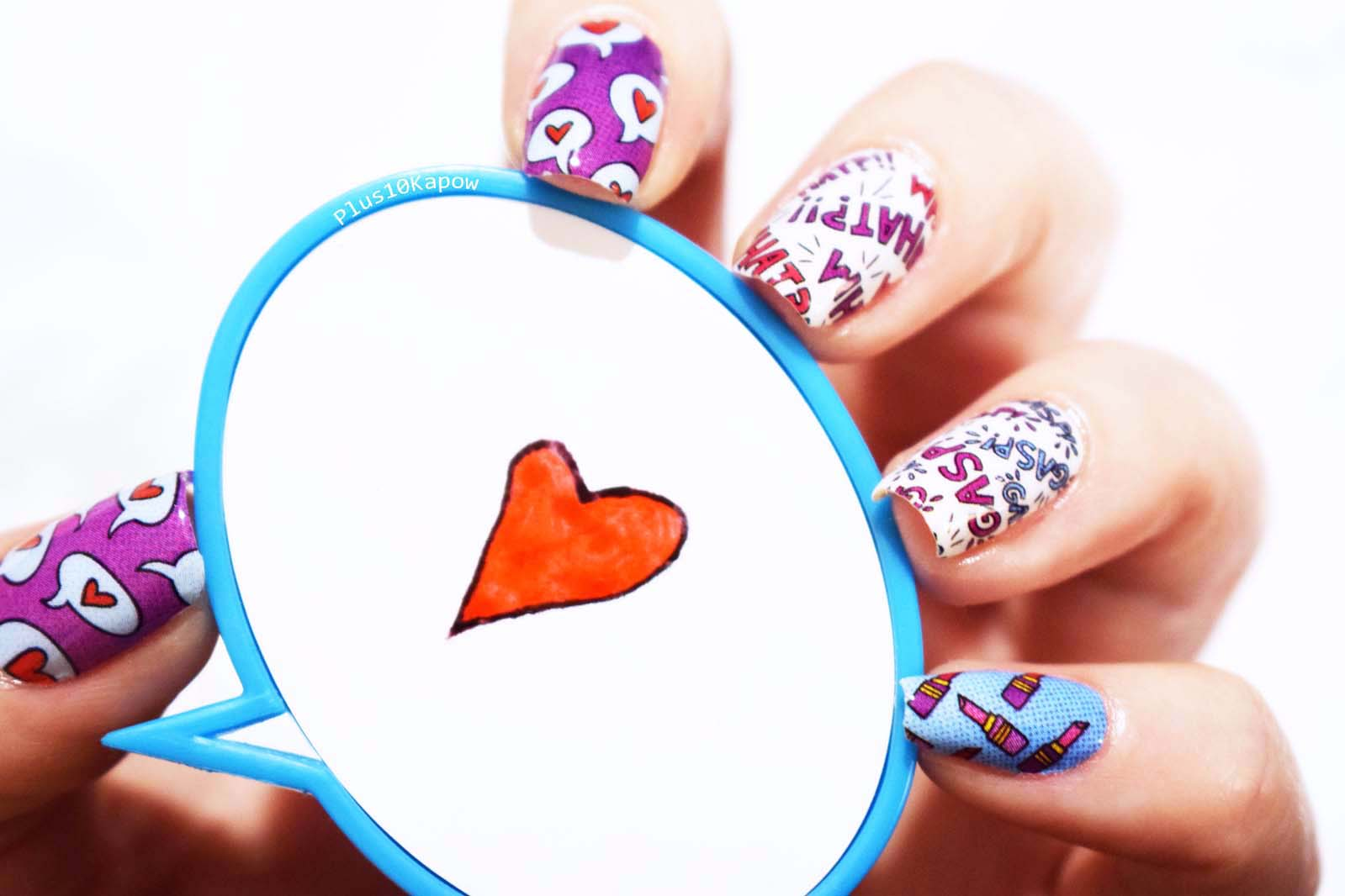 Espionage Cosmetics Best Friends Forever nail wraps Plus10Kapow