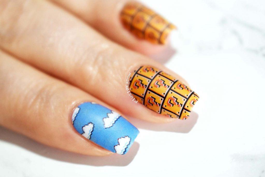 Espionage Cosmetics World 1-1 Super Mario nail wraps Nintendo Nerdy Nails