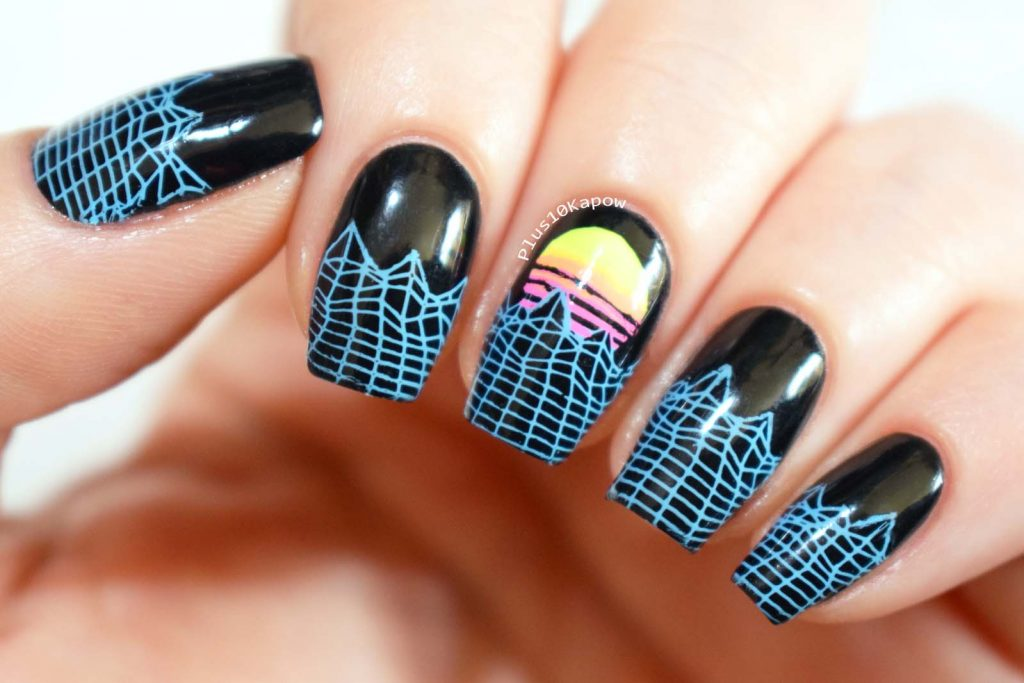 80s style Vector nails Maniology M050 Game Over insert coin stamping plate