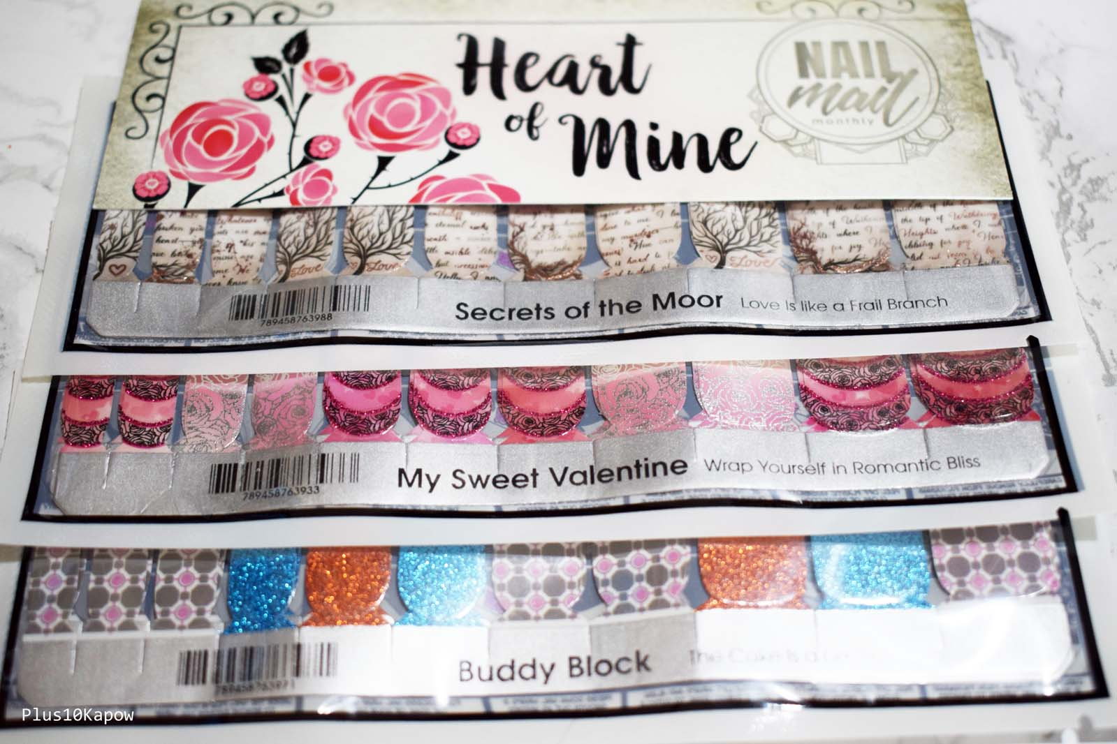 Espionage Cosmetics heart of Mine Nail Mail Monthly Plus10Kapow