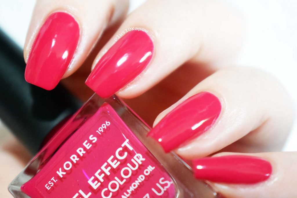 Korres Gel Effect Nail Colour Watermelon Swatches Sparkle PR