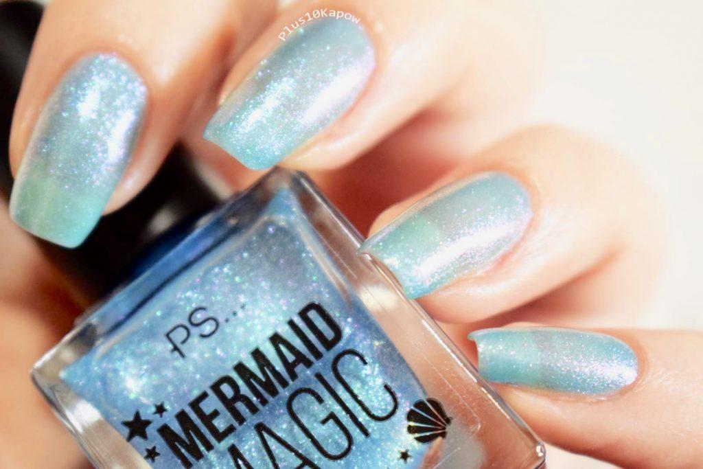 Primark PS Mermaid Magic Nail Polish Aquamarine Swatches