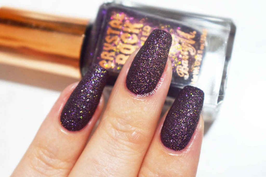 Barry M Crystal Rock Collection Swatches Purple Agate