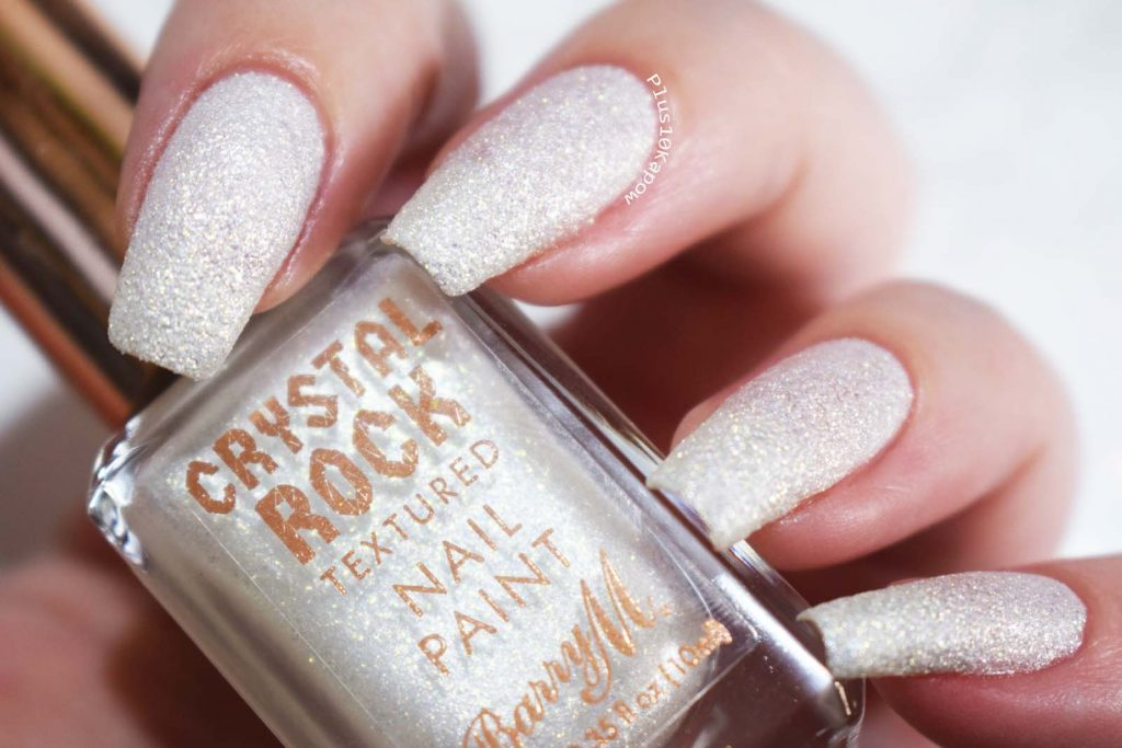 Barry M Crystal Rock Collection Swatches White Moonstone