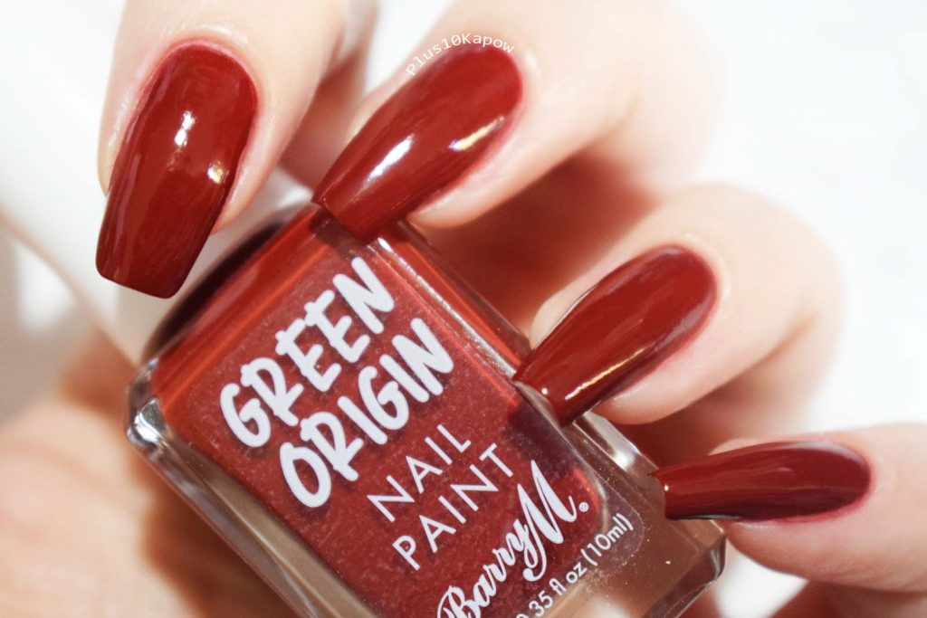 Barry M Green Origin collection swatches Red Sea