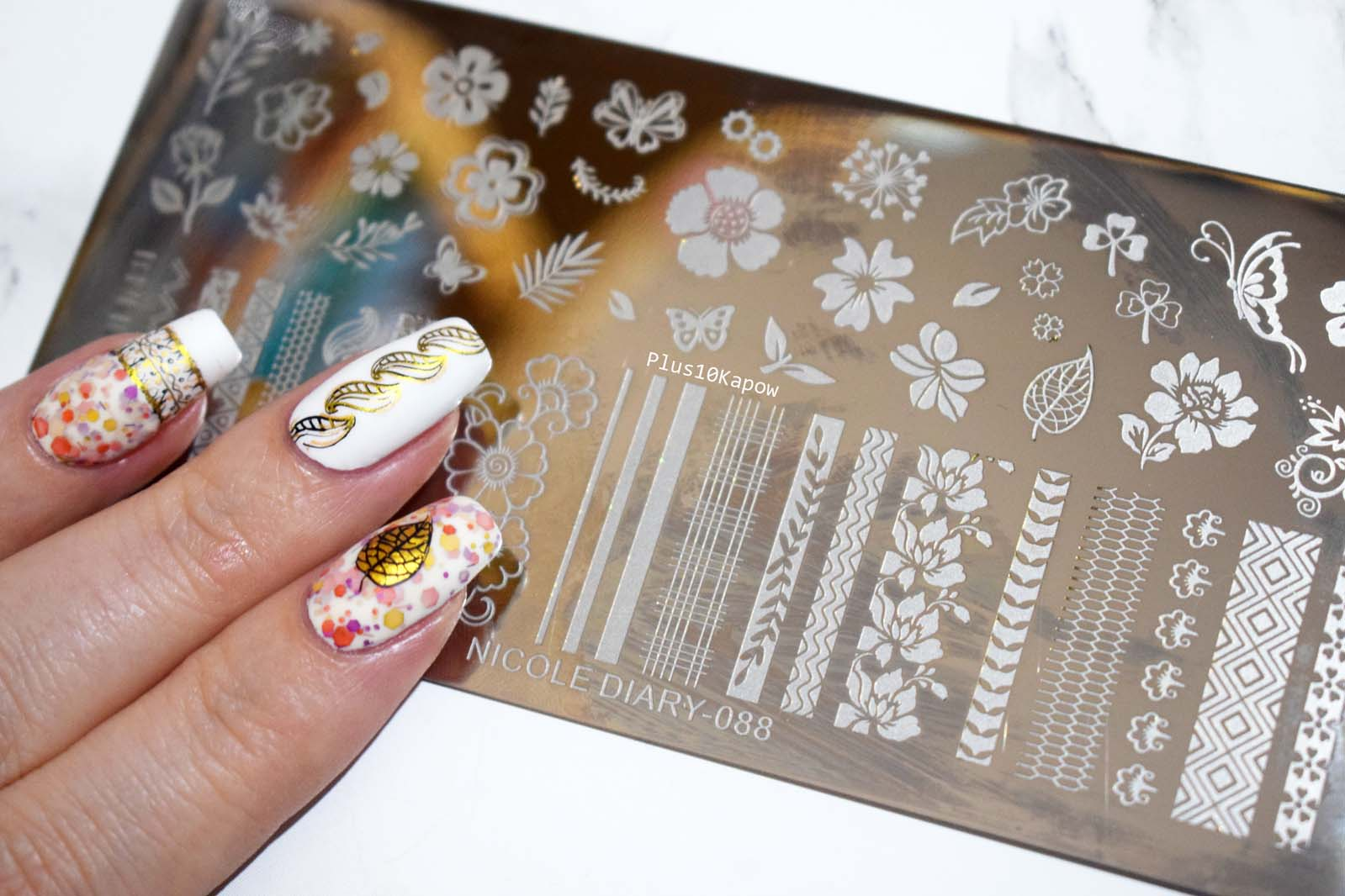 Nicole Diary 088 stamping plate