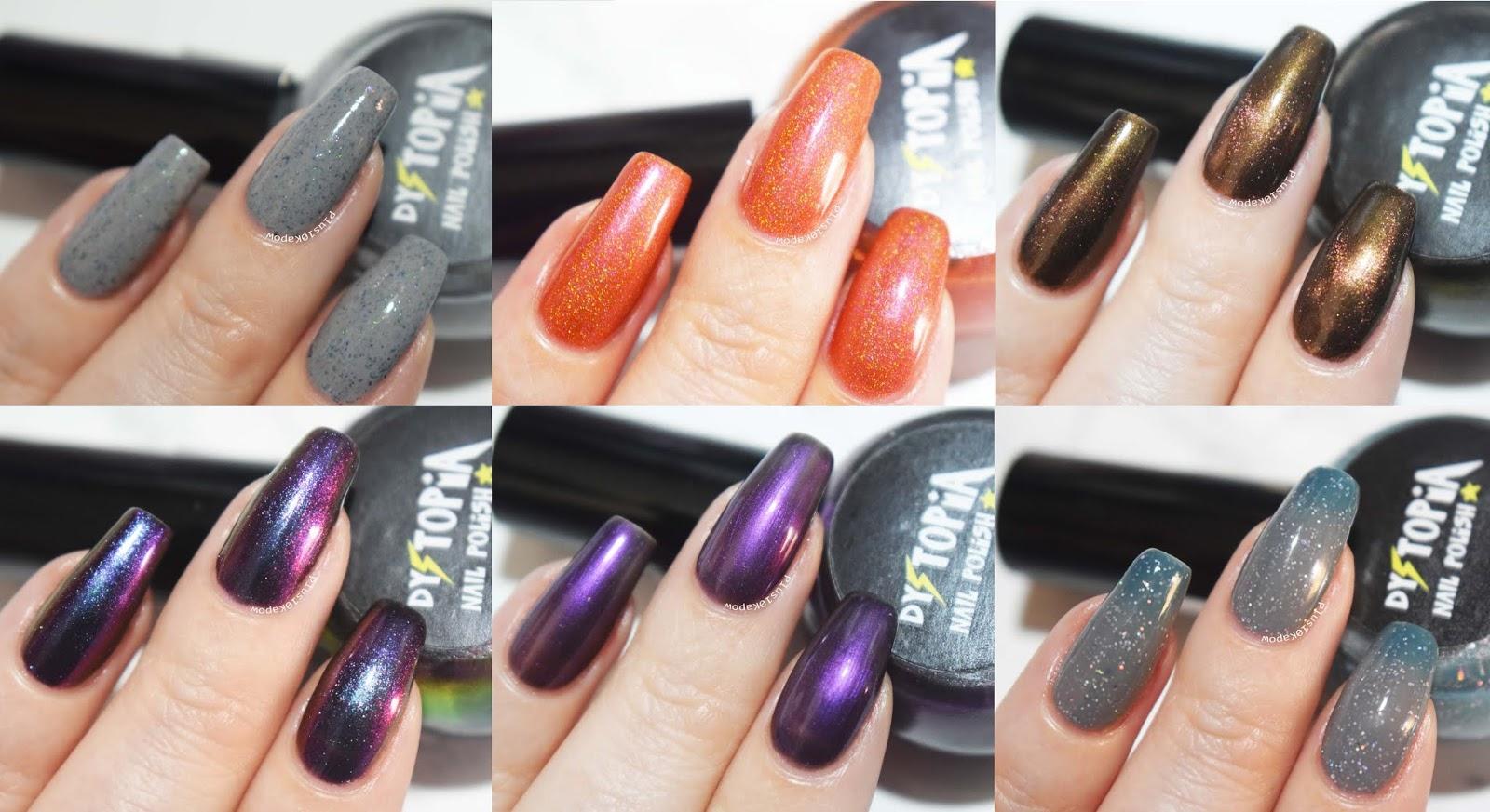 Dystopia Nail Polish Samhain Collection Swatches Plus10Kapow