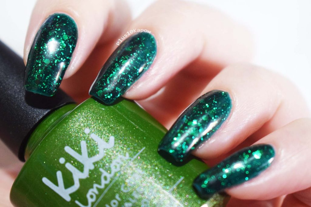 Kiki London Green Tinsle Gel Polish Swatches