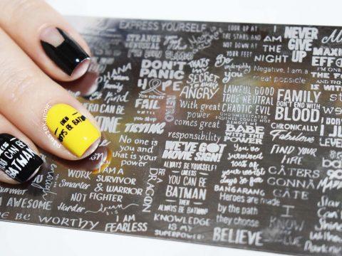 Nail Artisan Cosmetics & Plus10Kapow collab stamping plate