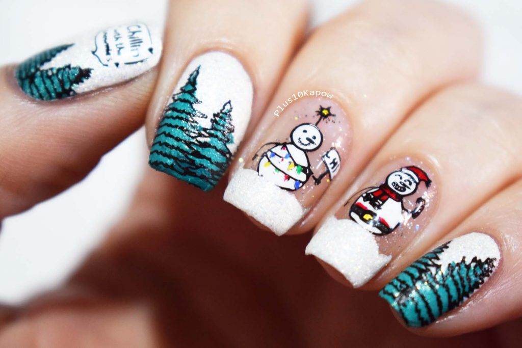 Chillin with my snowmies nail art Mani  Me