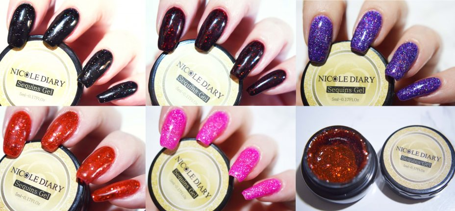 Nicole Diary Sequin Gel pots from Born Pretty Store Plus10Kapow