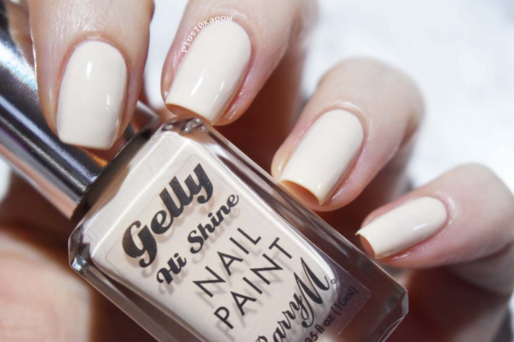 Barry M Iced Latte swatches Plus10Kapow