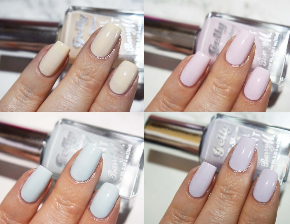 Barry M Gelly Pastels Swatched Plus10Kapow