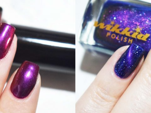 Wikkid Polish Elara and Taboo swatches
