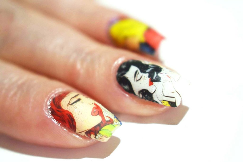 Charlie's Nail Art Pop Art Heartache water decals Plus10Kapow