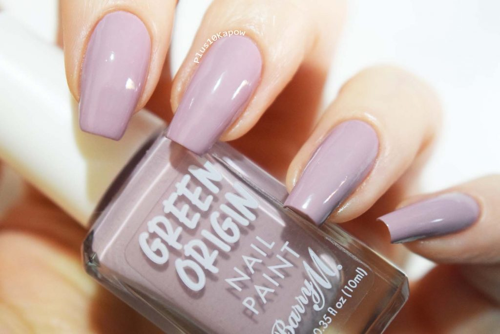 Barry M Green Origin Lilac Orchid swatches Plus10Kapow