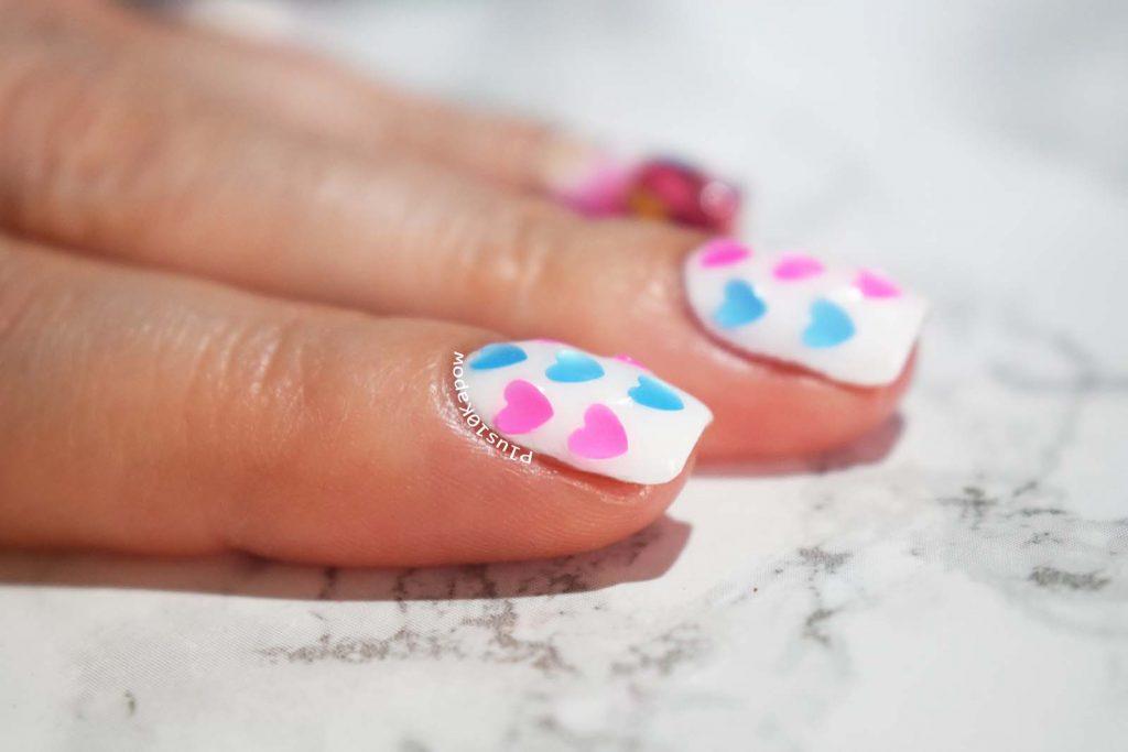 Charlie's Nail Art heart glitters